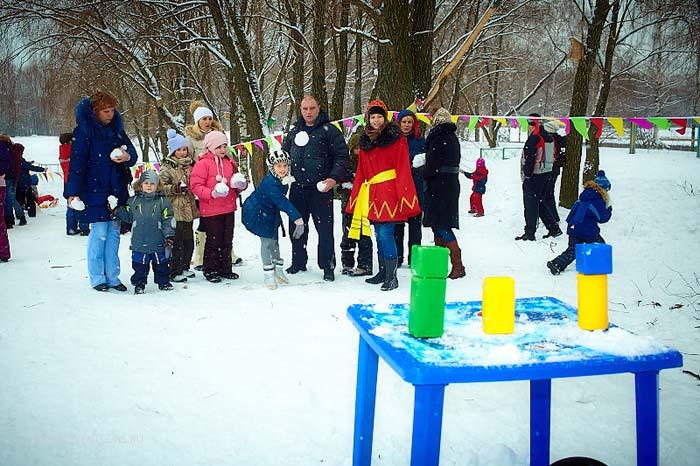 Конкурс на улице для детей зимой